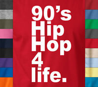 90s HIP HOP FOR LIFE T-Shirt Retro Old School Rap Battle Wu Tang Snoop Music Tee