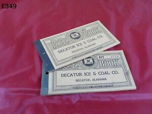 Vintage DECATUR ICE & COAL Company Trade Stamp BOOKLET