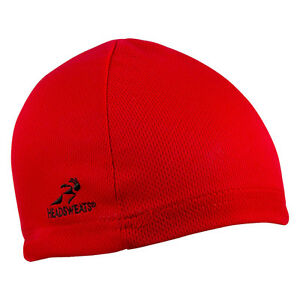 RED HEADSWEATS COOLMAX SKULL CAP CYCLING HELMET LINER BEANIE NEW