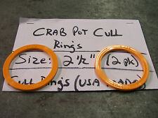 2 Pack E-Z Catch Orange Crab Pot & Crab Trap Cull Rings, USA Made Size 2-1/2""