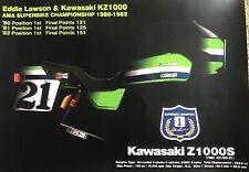 KAWASAKI KZ1000 S1 AMA superbike winner commemorative poster / Eddie Lawson