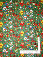 Christmas Fabric - Suzys Zoo Holiday Character Toss Green L4186 Hoffman - Yard