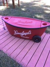 """Leinenkugel's Red Beer Canoe + Cooler = """"Canooler"""" with Wheels and Pull String"""