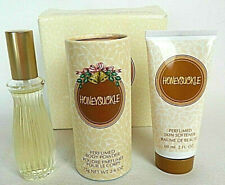 Avon Honeysuckle Perfume Gift Set 1oz Cologne Spray Body Cream and Powder / Talc