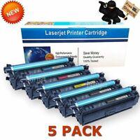 5PK CF360X CMYK Color Toner Cartridge for HP 508X Enterprise M552 M553 MFP M577