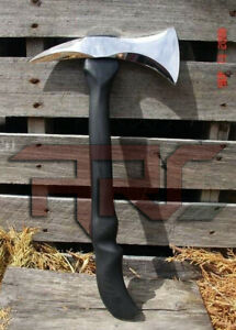 CUSTOM HANDMADE HIGH CARBON STEEL RARE AXE TOMAHAK VIKING ASH WOOD HANDLE SHEATH