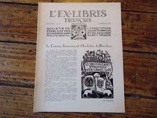 L' EX LIBRIS FRANCAIS N° 55 CONGRES INTERNATIONAL  EX-LIBRIS BARCELONE