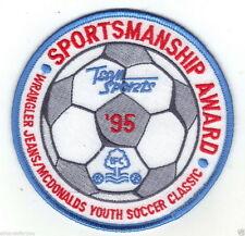 MCDONALDS YOUTH SOCCER SPORTSMANSHIP AWARD '95 FOOTBALL JERSEY LOGO PATCH NEW