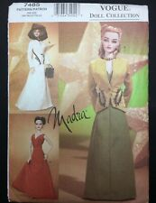 Vogue Doll Collection Pattern 7485 Madra & Other 15 1/2� Dolls Uncut Factory Fld