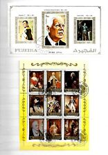DE GAULLE FRANCE PRESIDENT ROYALTY Thematic MINIATURE 2 SHEETS Stamps 09160218