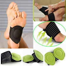 Pair Foot Arch Support Plantar Cushion Fasciitis Fallen Arches Feet Pain Relief