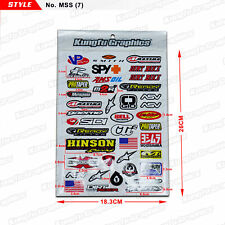 Kungfu Graphics MX Sticker Pack Car Motorcycle Racing Motocross ATV Helmet Decal