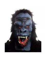 Adults Gorilla Mask Halloween Mens Overhead Animal Horror Fancy Dress Accessory