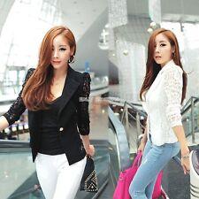 HOT Womens Suit Slim Blazer Jacket Coat OL/Casual/Business Outerwear Black White