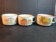 Collectable Shell Garage Soup Bowls Set of Three  Vintage Retro