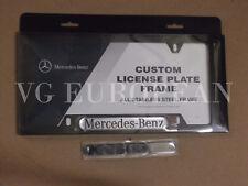 Mercedes-Benz Genuine BLACK Stainless Steel License Plate Frame NEW
