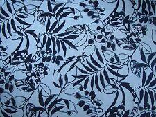 "RALPH LAUREN CURTAIN FABRIC ""Westinghouse Floral"" 1.3 METRES DRESS WHITE (NAVY)"