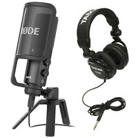 Rode NT-USB USB Condenser Microphone w/ Stereo Headphones