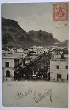 Old Postcard Aden Yemen Main Street - Posted from Ita Royal Navy - italian stamp