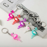 12pcs Flamingo Keychain Fashion Hanging Pendant for Home Key Car
