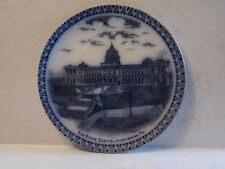 W.B Pfleghardt Store Charleroi Pa. Flow Blue England Plate State Capitol Plate