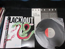 Black Out Evil Game Japan Promo Label Vinyl LP w OBI in 1985 Dutch Heavy Metal