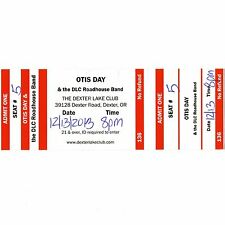 OTIS DAY Concert Ticket Stub OREGON 12/13/12 ANIMAL HOUSE SHAMA LAMA DING DONG