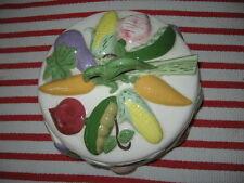 Art Pottery Covered Vegetable Dish Figural Carrot Celery Eggplant Corn Pea Beet
