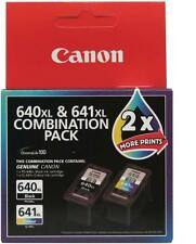 Canon Pg640xl Black & Cl641xl Colour Genuine High Yield Ink Cartridges