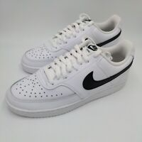 Nike Court Vision Low White Black Men Classic Casual Shoes Sneakers Size 8.5