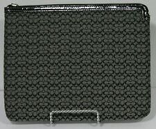 """Coach 10"""" Tablet Case - Black Signature on Silver"""