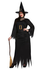 Witch Adult Halloween Costume Ladies Women Plus Size Fancy Dress Horror Outfit