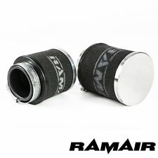 48mm ID Neck - Chrome Cap Motorcycle Pod Air Filter