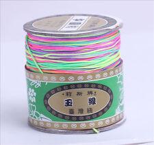 0.8mm Rainbow Chinese Knot Nylon Cord Shamballa Beading Thread Macrame String