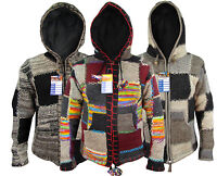 Patchwork Hippie Boho Knitted Himalayan Woolen Winter Nepalese Hoodies Jackets