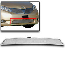 TOYOTA 2011 2012 2013 2014 SIENNA CHROME BUMPER WIRE MESH GRILLE STAINLESS STEEL
