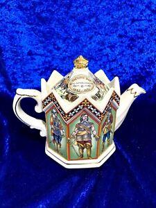 James Sadler Tea pot Civil War 1642-1651 King & Parliament Octagonal