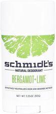 Deodorant Stick, Schmidts Naturals, 3.25 oz 1 pack Bergamot & Lime