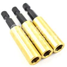 """1, de latón portapuntas magnético - 60mm De Largo-Con el clip de retención - 1/4 """"Disco"""