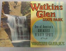 Vintage 1940's? 1950's?  Souvenir Book of Watkins Glen State Park Colorful Views