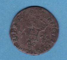 (Ref: MD.51) MONNAIE MEDIEVALE HENRI III DOUBLE SOL PARISI 1579