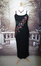 Monsoon Dress/Ballgown 14 Silk Evening Cocktail Party Beads Sequin Black Vintage