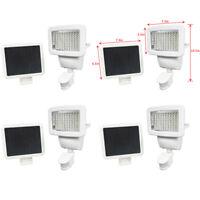 4 PACK 100 SMD LEDs White Solar Powered Motion Sensor Security Light Flood 60 80