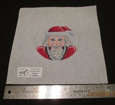 Hand painted Needlepoint Canvas Santa Claus  Painted Pony Designs 200 r