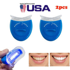 2PC Effective Teeth Whitening LED Light Accelerator Bleaching Oral Care UV Laser
