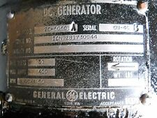 GE DC Generator 2CM505C1A Overhauled - NO CORE CHARGE!