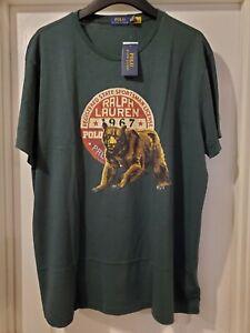 Ralph Lauren Polo Bear Sportsman T-Shirt XXL Sportsman Indian Stadium Hunting