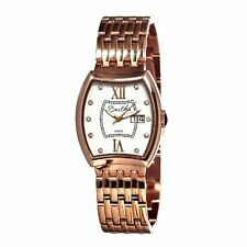 Bertha BR3105 Women's Fiona White/crystal Barrel Shaped Dial Rose Gold Watch