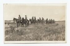 C.E.F. Soldiers on move during Exercises somewhere in Canada 1907-17 WW1 RPPC 5