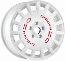 OZ RALLY RACING WHITE + RED LET. Felge 7,5x18 - 18 Zoll 5x112 Lochkreis